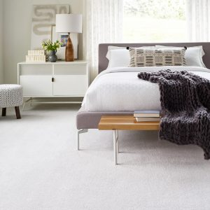 Bedroom white Carpet flooring | Assured Flooring