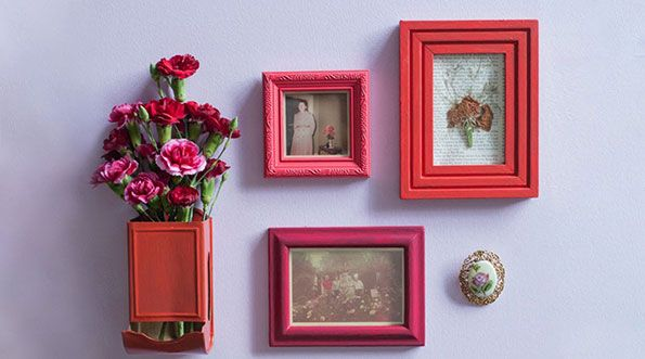 Photo frames on wall | Assured Flooring