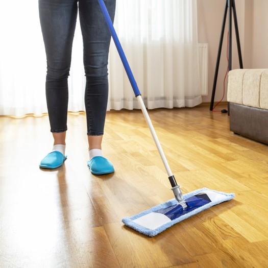 Sweeping Vinyl floor   Assured Flooring