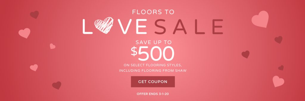 Love sale banner | Assured Flooring