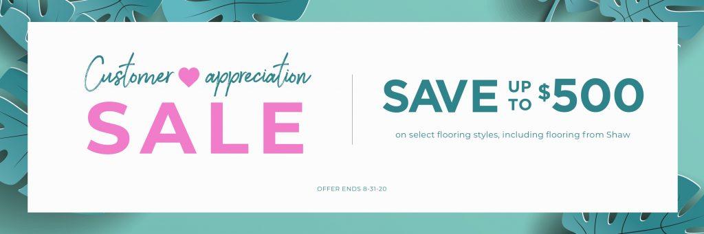 Customer Appreciation Sale | Assured Flooring